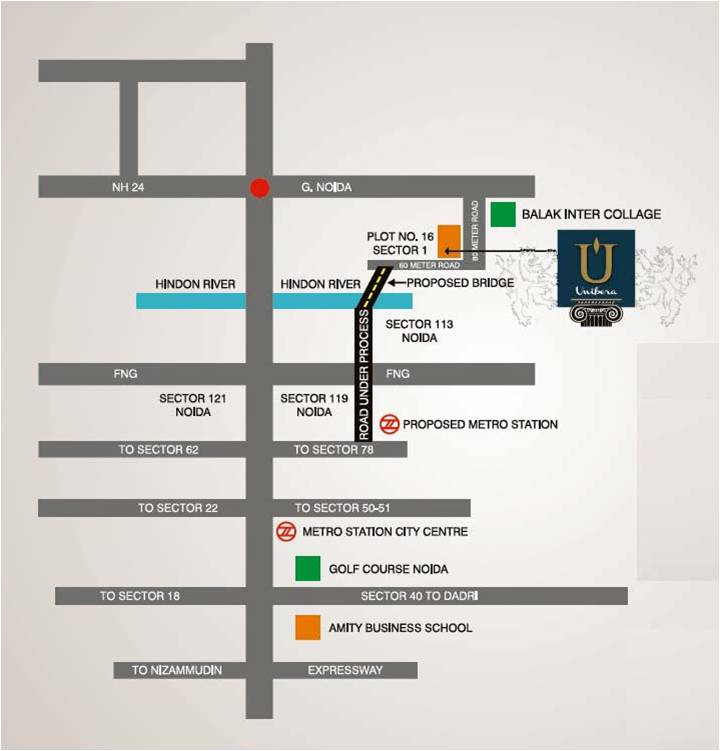 Unibera location map
