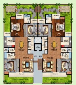 amrapali centurian park floor plan 2bhk 2tiolet