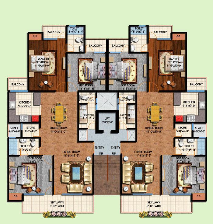 amrapali centurian park floor plan 3bhk 2toilet