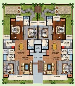 amrapali centurian park floor plan 3bhk 3toilet