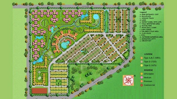 amrapali-centurian-park-site-map