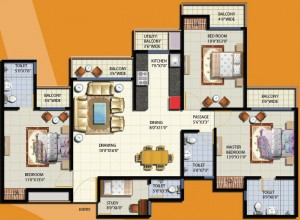 anthem floor plan 3bhk 3toilet
