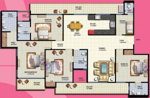anthem floor plan 4bhk 4toilet