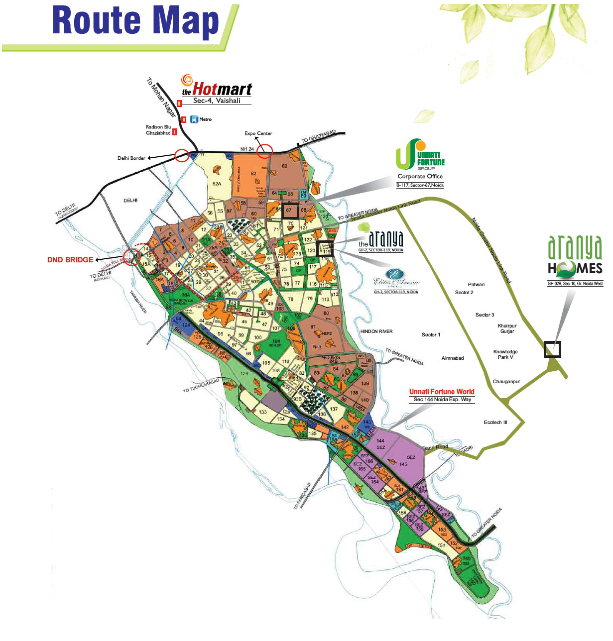 aranay homes location map
