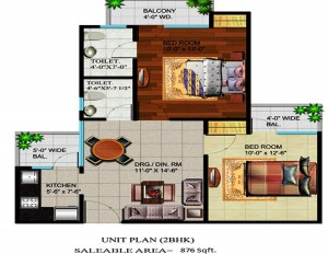 devika gold homz floor plan 2bhk 2toilet 876 sqft