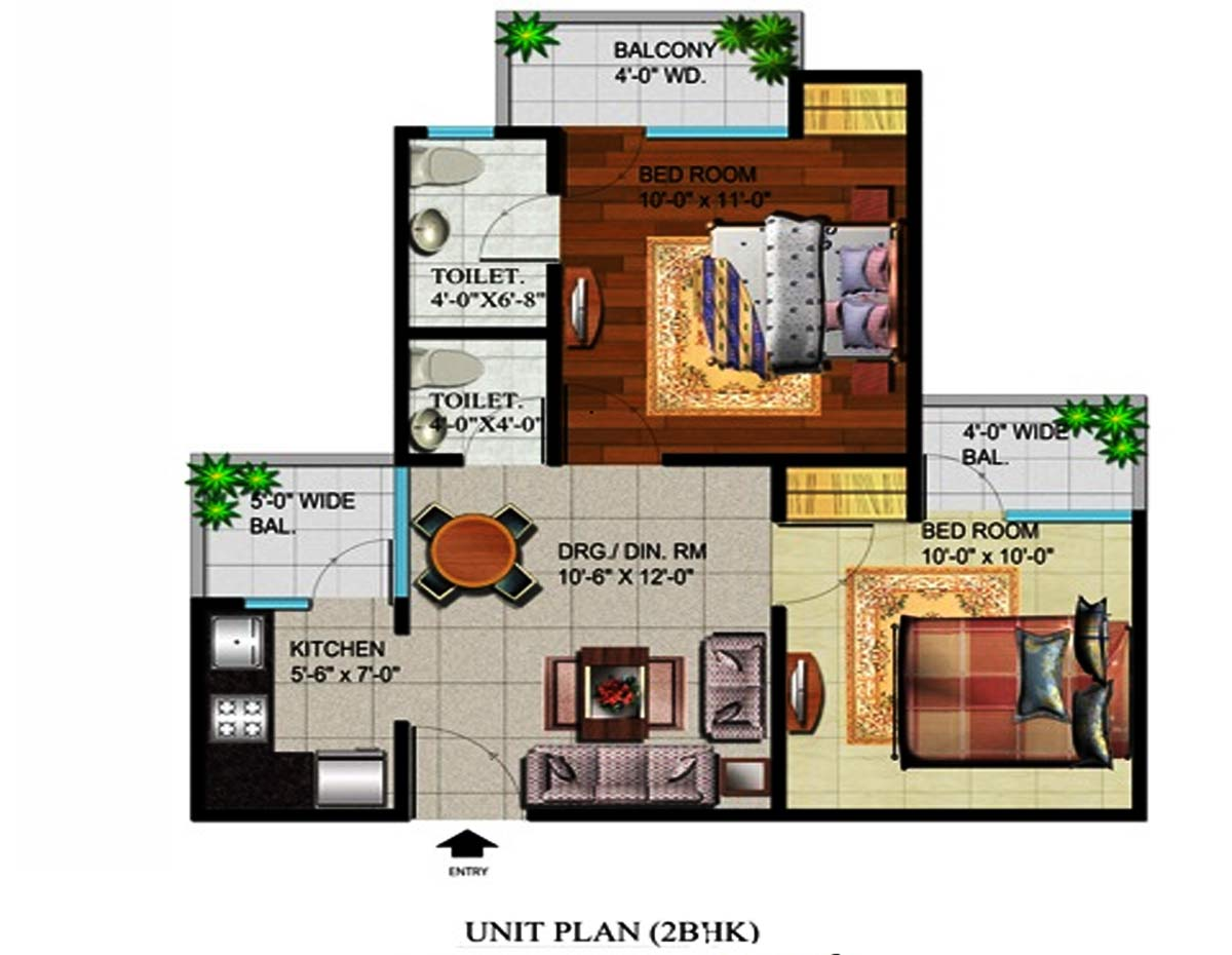 devika gold homz floor plan 2bhk 2toilet