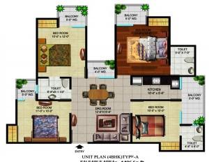 devika gold homz floor plan 4bhk 3toilet