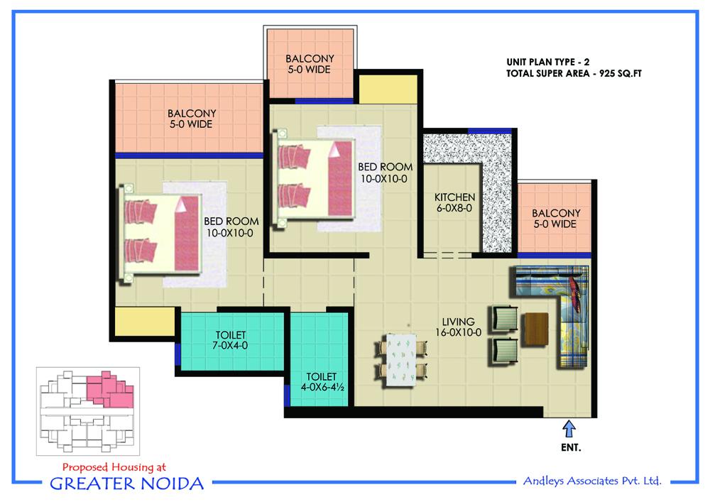 Ekdant Rawal Residency Floor Plan 2bhk 2toilet 925 Sqft