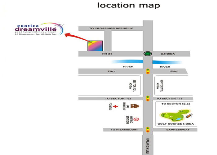exotica dream ville location map