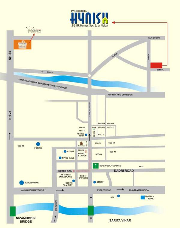 panchsheel hynish location map1