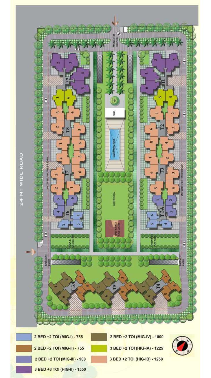 panchsheel hynish site plan