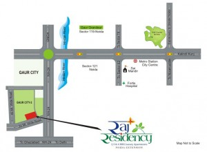raj residency location map