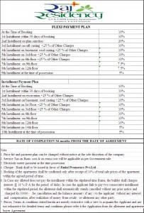 raj residency payment Plan