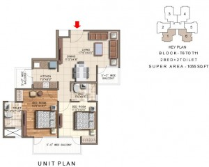 rudra aqua casa floor plan 2bhk 2toilet 1055 sqft