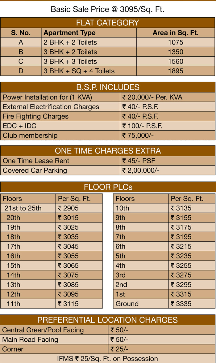 shubhkamna monarch price  list