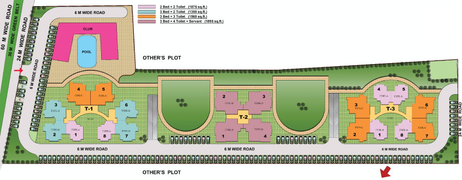 shubhkamna monarch site plan