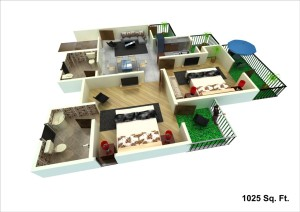 unibera floor plan 1025