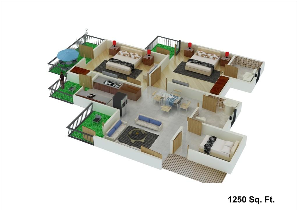 unibera floor plan 1250