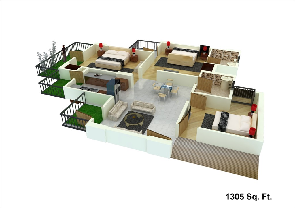 unibera floor plan 1305