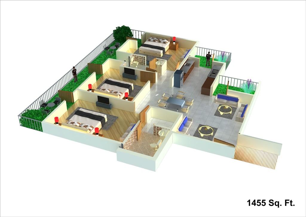 unibera floor plan 1455
