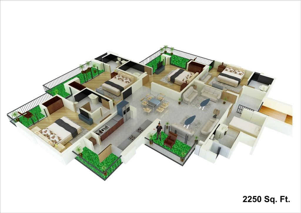 unibera floor plan 2250