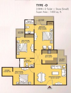 vvip homes floor plan 3bhk 2toilet 1400 sqft (2)