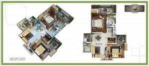 royal nest floor plan 2bhk 2toilet 1095 sqft