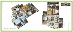 royal nest floor plan 2bhk 2toilet 1295 sqft