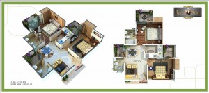 royal nest floor plan 2bhk 2toilet 895 sqft