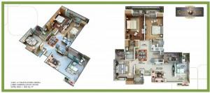 royal nest floor plan 3bhk 4toilet 1895 sqft