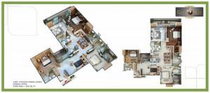 royal nest floor plan 4bhk 4toilet 2035 sqft