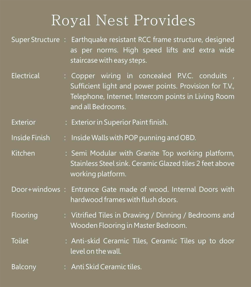 royal nest specification