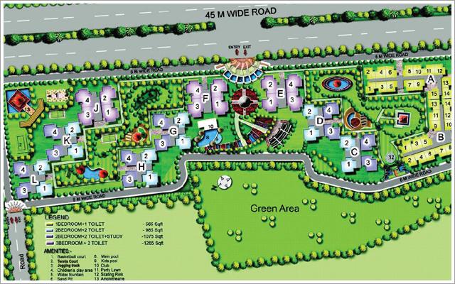 amrapali hanging garden site plan