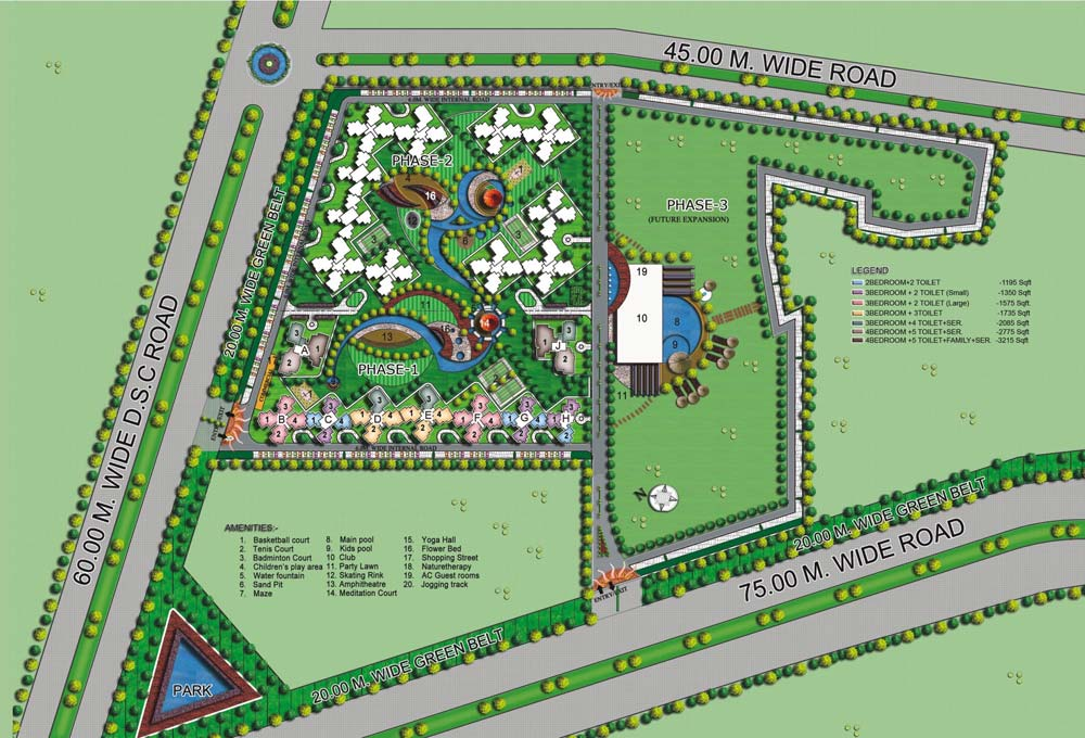 amrapali heart beat city site plan
