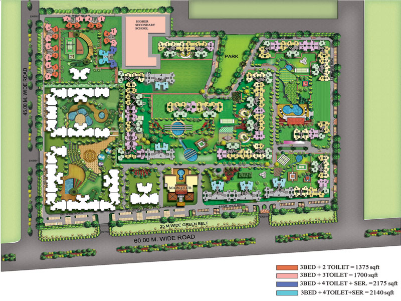 amrapali sicon city site plan