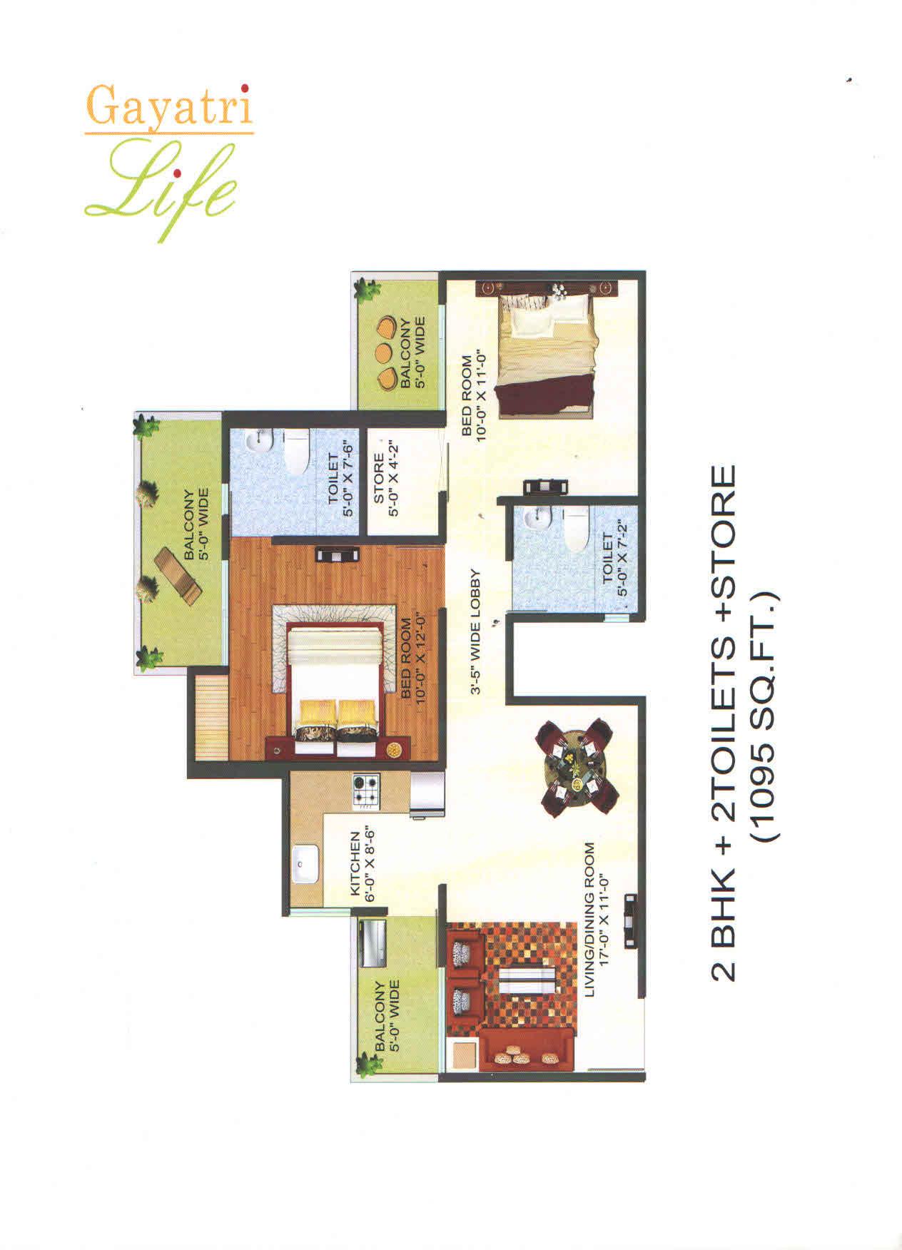 gayatri life floor plan3
