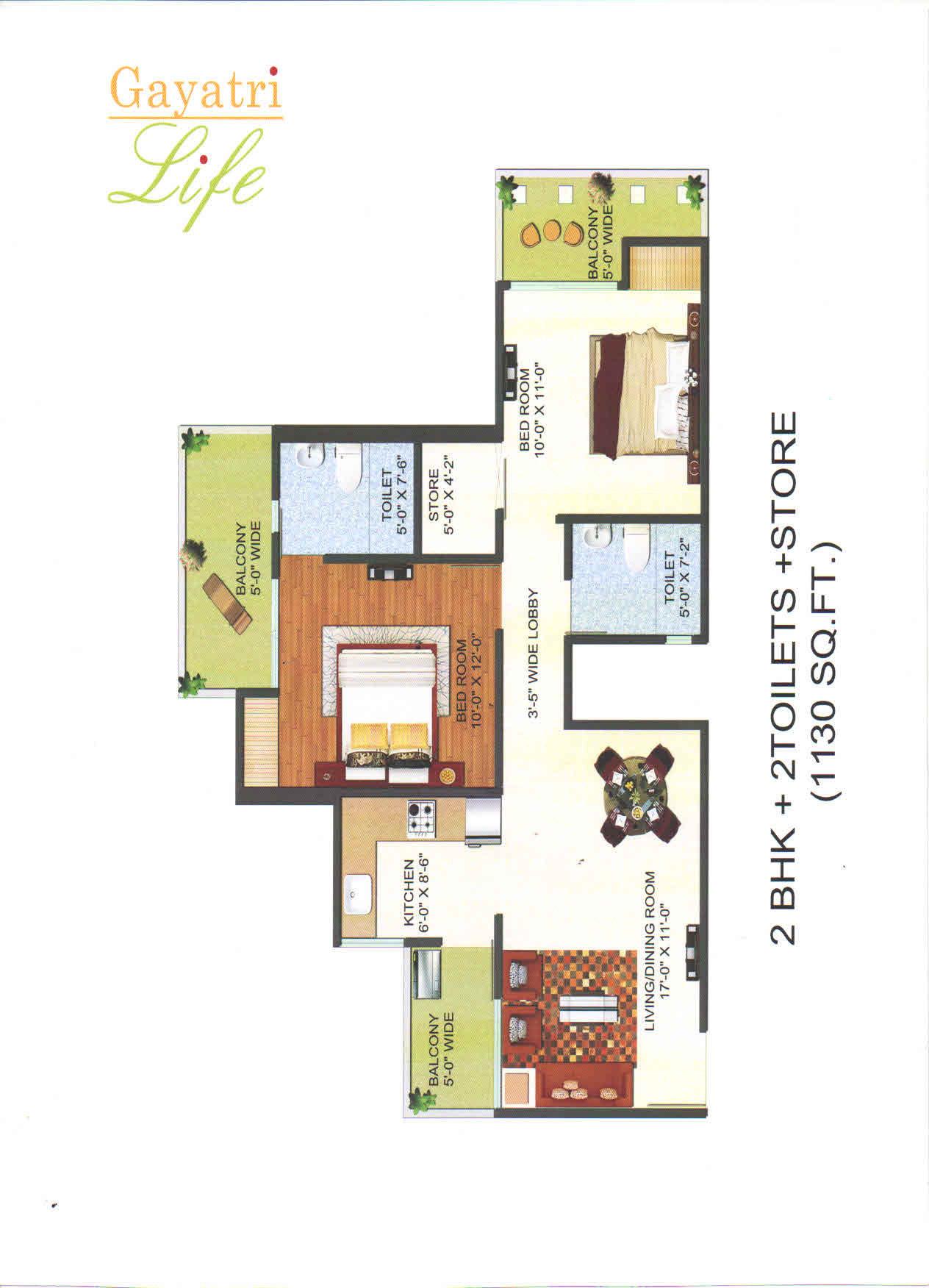 gayatri life floor plan4