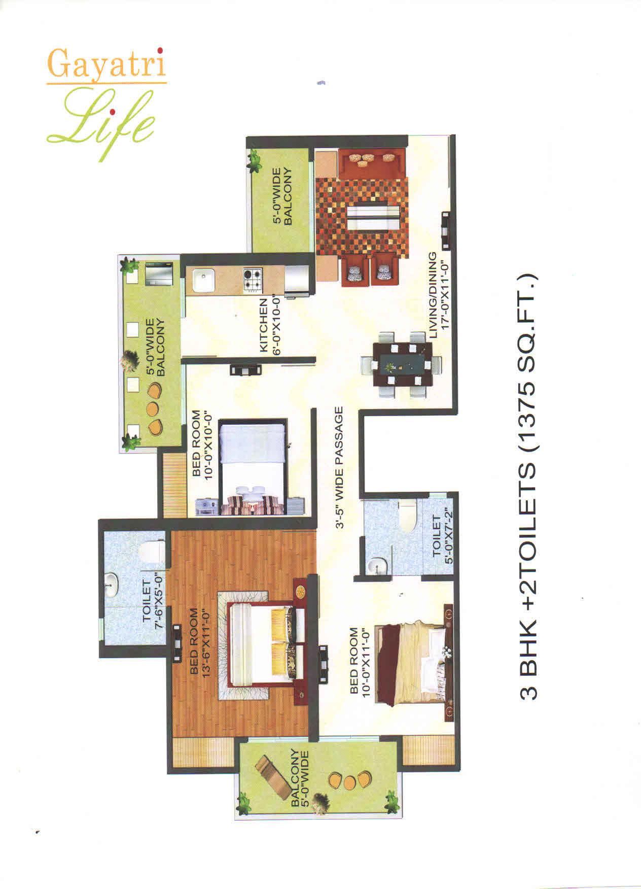 gayatri life floor plan5
