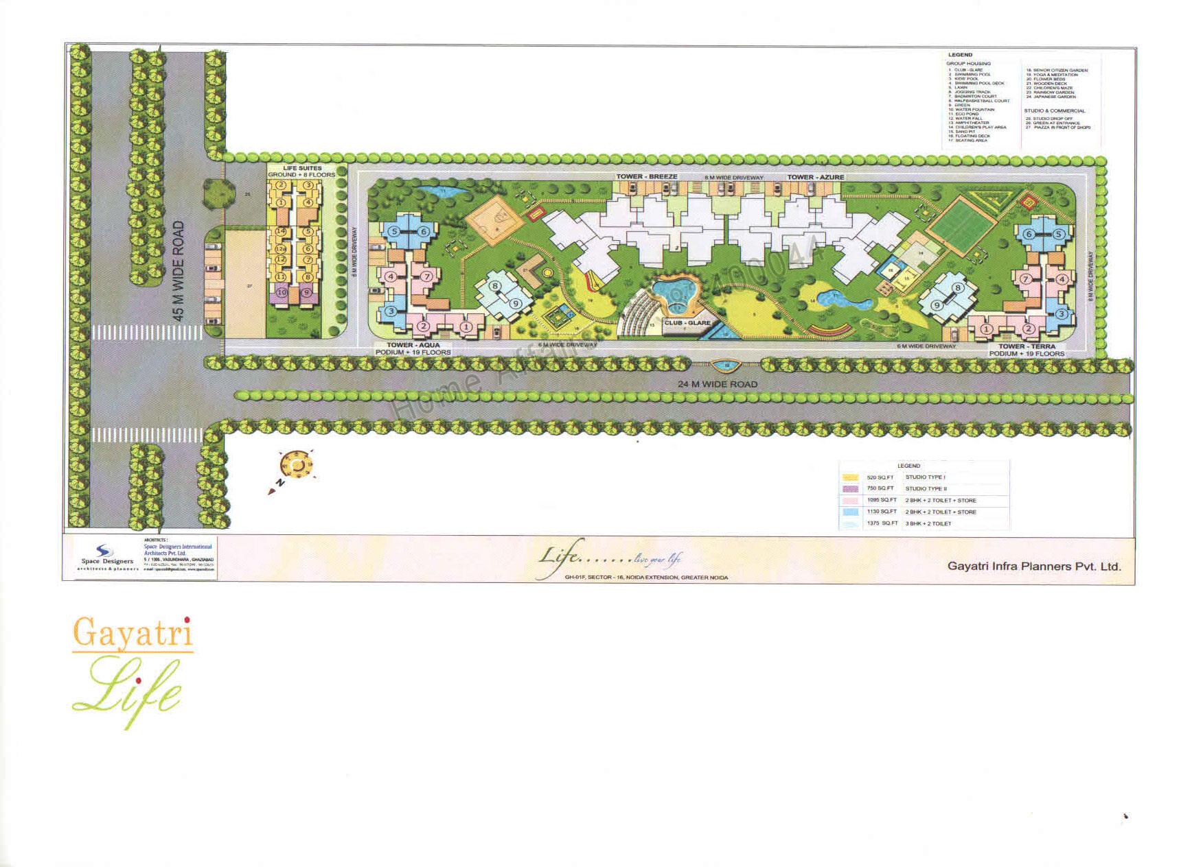 gayatri life site plan