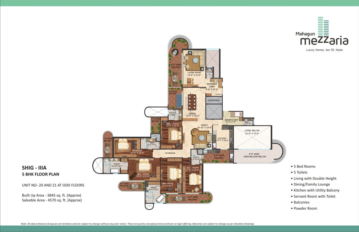 mahagun mezzaria floor plan 5bhk 4570sqft