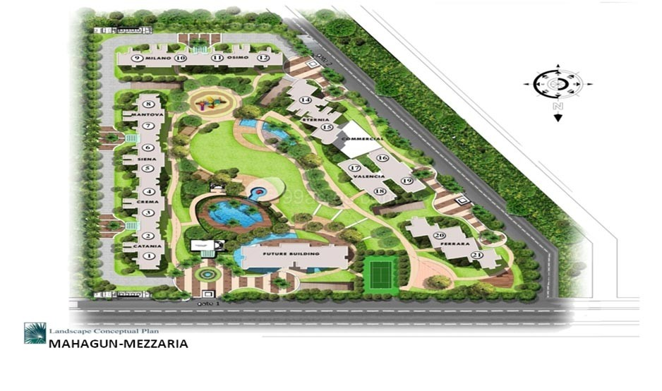 mahagun mezzaria site plan