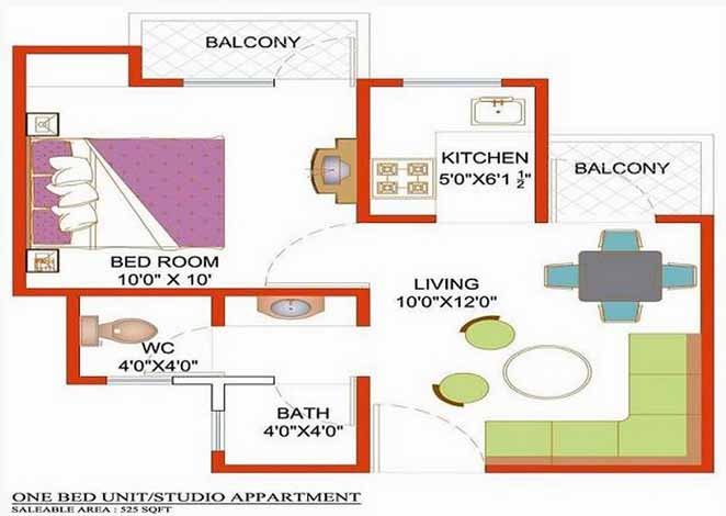 nimbus hyde park floor plan 1 BHK 525 Sq ft