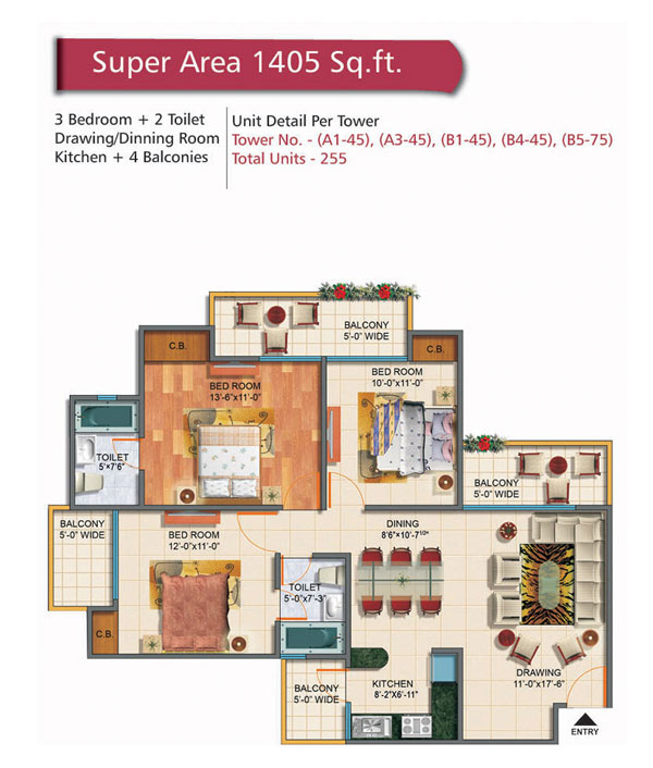 Rudra Palace Heights floor plan5
