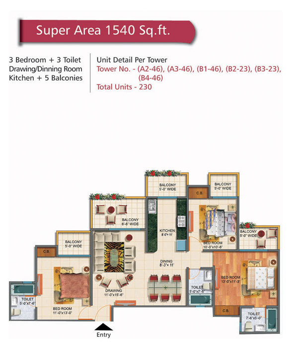 Rudra Palace Heights floor plan6