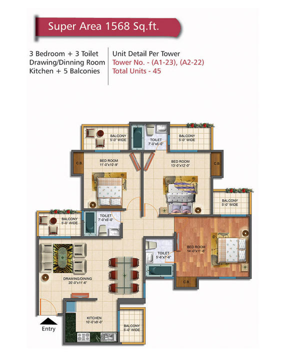 Rudra Palace Heights floor plan7