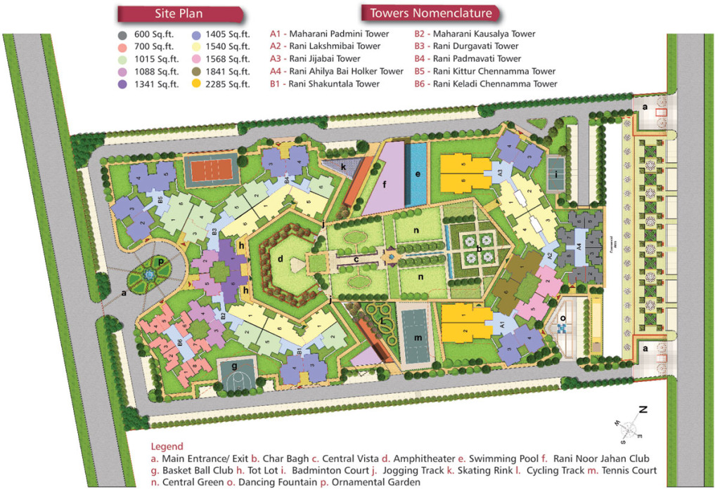 Rudra Palace Heights site plan