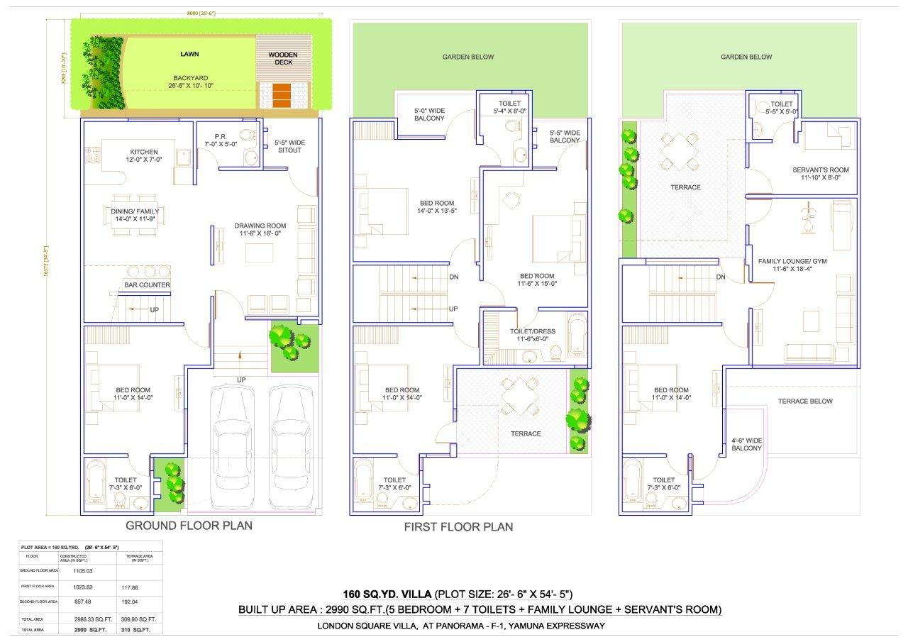 Sample Map Of 5 Marla House Joy Studio Design Gallery