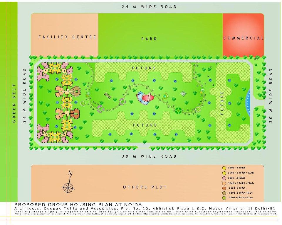 amrapali zodiac site plan