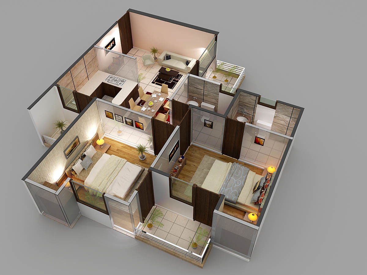Casa grande 2 bed 2 toilet 1060 sqr ft floor plan for Planner casa