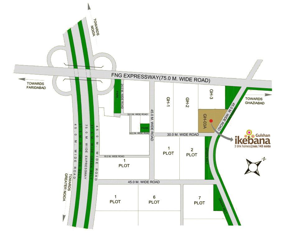gulshan  ikebana location map